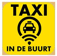Een taxi in de buurt, Geleen Sittard Beek Stein Elsloo Maastricht: 046 - 423 29 89 logo